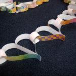 Paper heart chain kids craft activity
