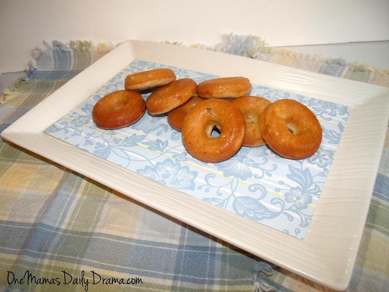 blueberry yogurt doughnuts - baked donut recipe | One Mama's Daily Drama