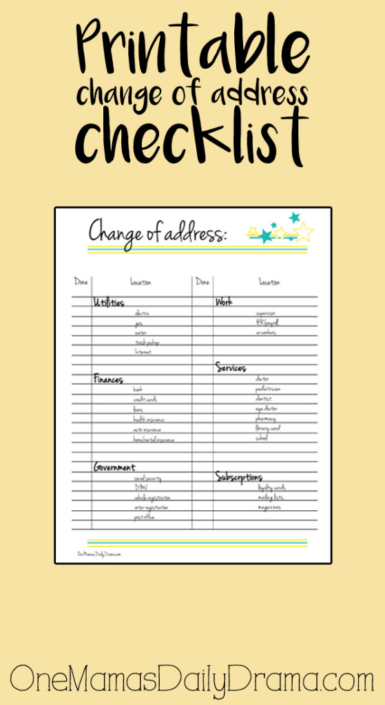photo about Printable Moving Checklist and Planner known as Printable big difference of cover listing