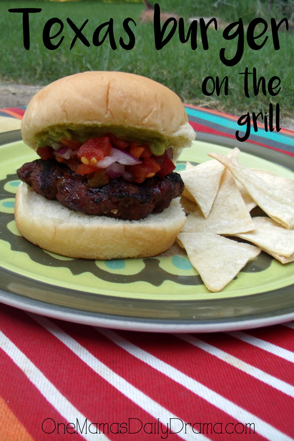 Texas burger on the grill | Tex-Mex recipe by One Mama's Daily Drama