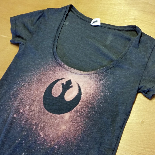 Diy star wars rebel bleach tee for How to bleach at shirt