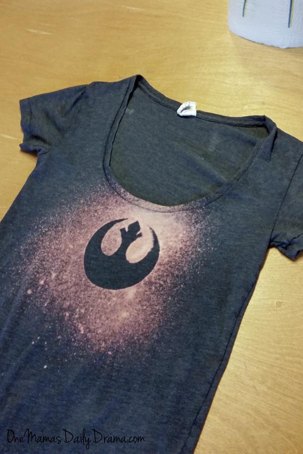 DiY Star Wars rebel bleach tee | One Mama's Daily Drama