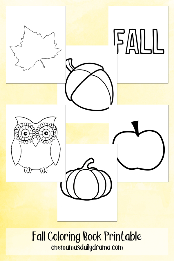 Fall Coloring Book Printable 6 Pages For Zentagles And More