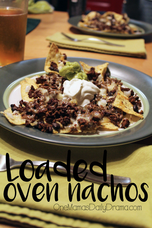 Loaded oven nachos recipe | Easy baking sheet dinner for family meals