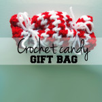 Crochet candy gift bag