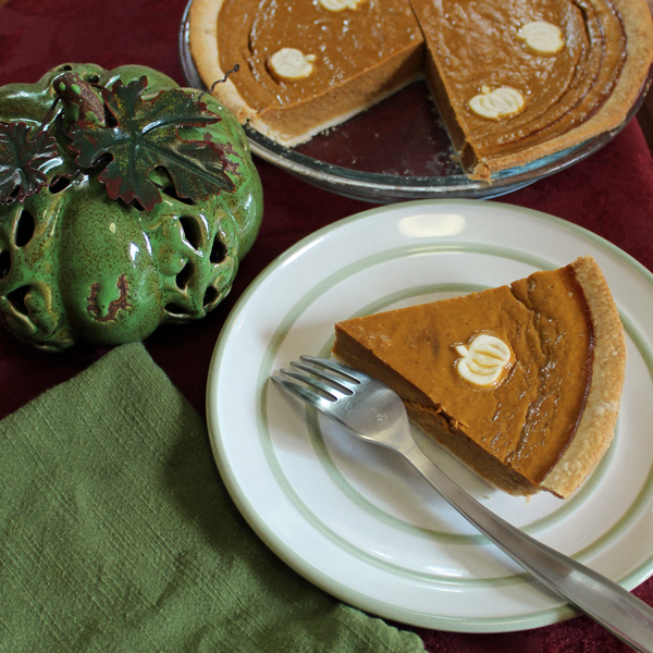 Pumpkin pie without evaporated or condensed milk