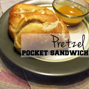 Pretzel pocket sandwich recipe | One Mama's Daily Drama --- Make your own ham and swiss hot pockets with a pretzel crust.