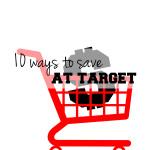 10 ways to save at Target