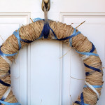 Beautiful DiY spring raffia wreath
