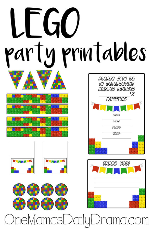 Peaceful image in lego party printable