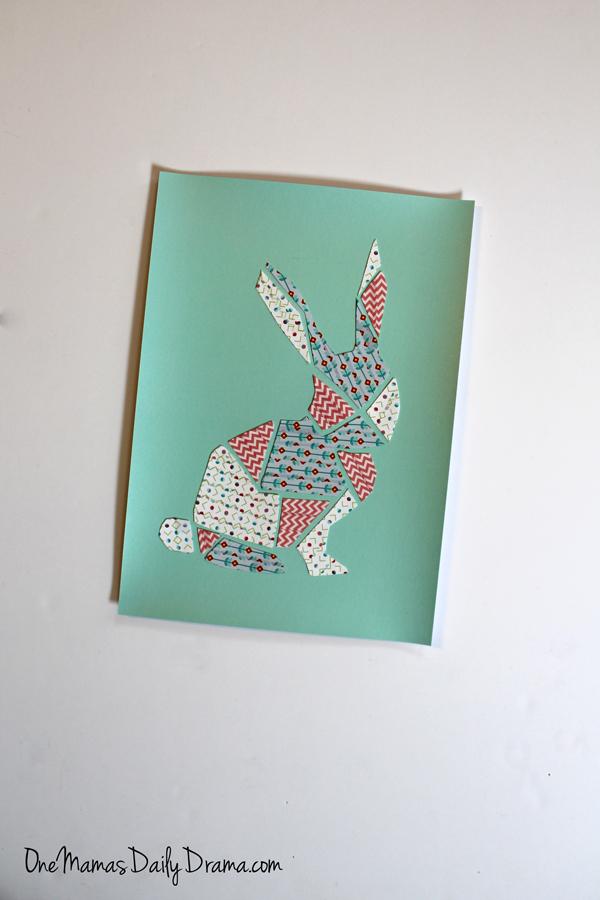 DiY washi tape bunny art | One Mama's Daily Drama