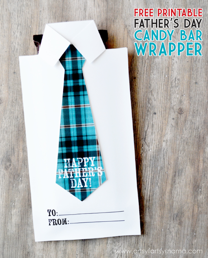 Father's Day candy bar wrapper | Artsy Fartsy Mama