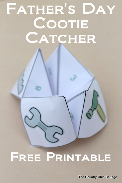 Father's Day cootie catcher | The Country Chic Cottage