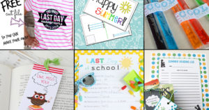 12 fun and free end of school printables collage