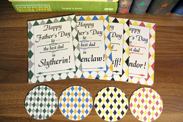 Hogwarts Father's Day printables from OneMamasDailyDrama.com