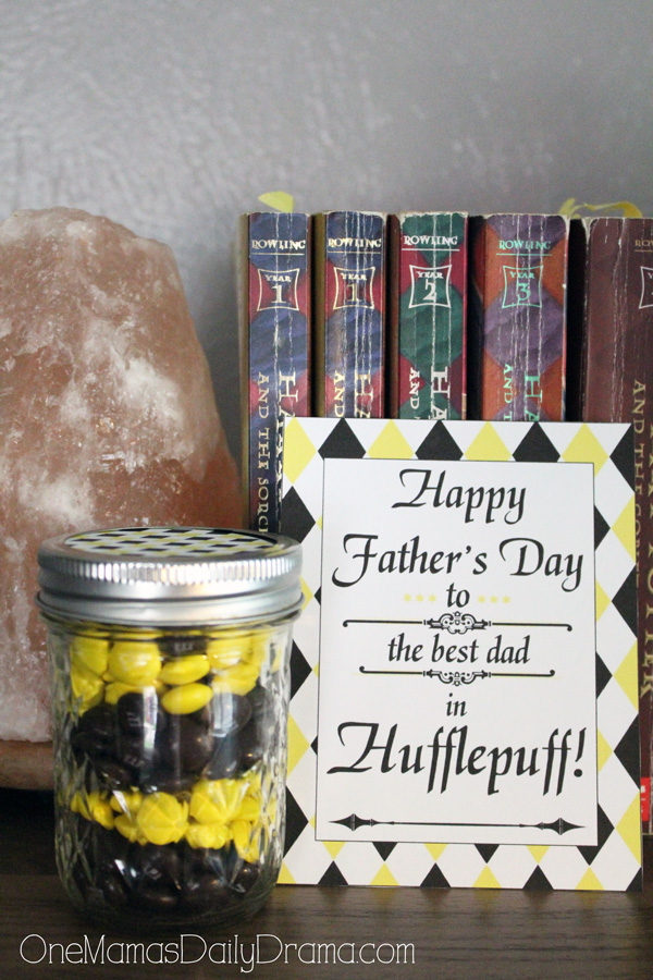 Hufflepuff Father's Day printable