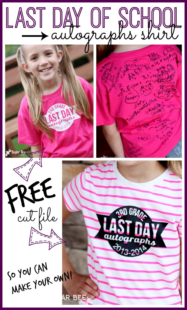 Last day of school autograph shirt