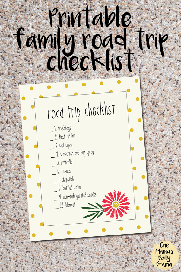 How to create an essential road trip tote + free printable check list