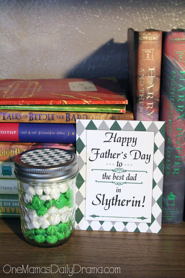 Slytherin Father's Day printable