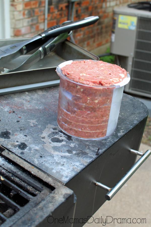 Greek turkey burgers   Incredibly handy burger press tool