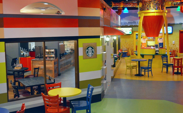 Starbucks dining at LEGOLAND Discovery Center