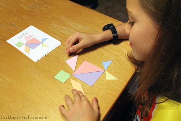 Printable tangrams + challenge cards