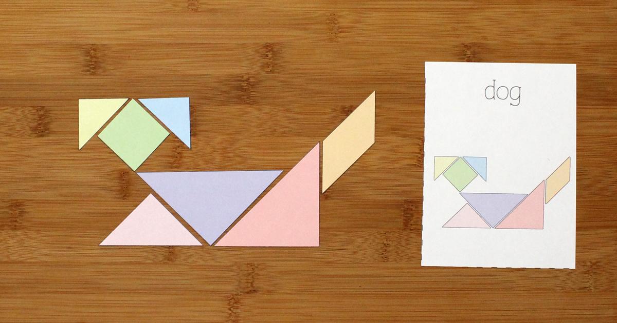 photo relating to Printable Tangrams Pdf referred to as Printable Tangrams and Concern Playing cards Small children Recreation