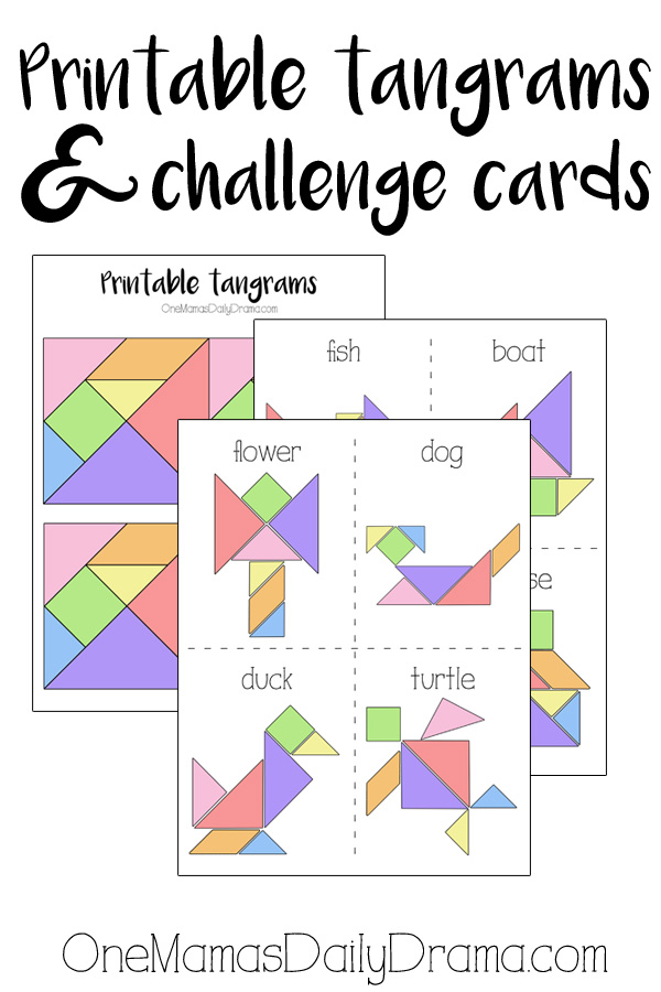 image relating to Printable Tangram named Printable Tangrams and Trouble Playing cards Little ones Video game