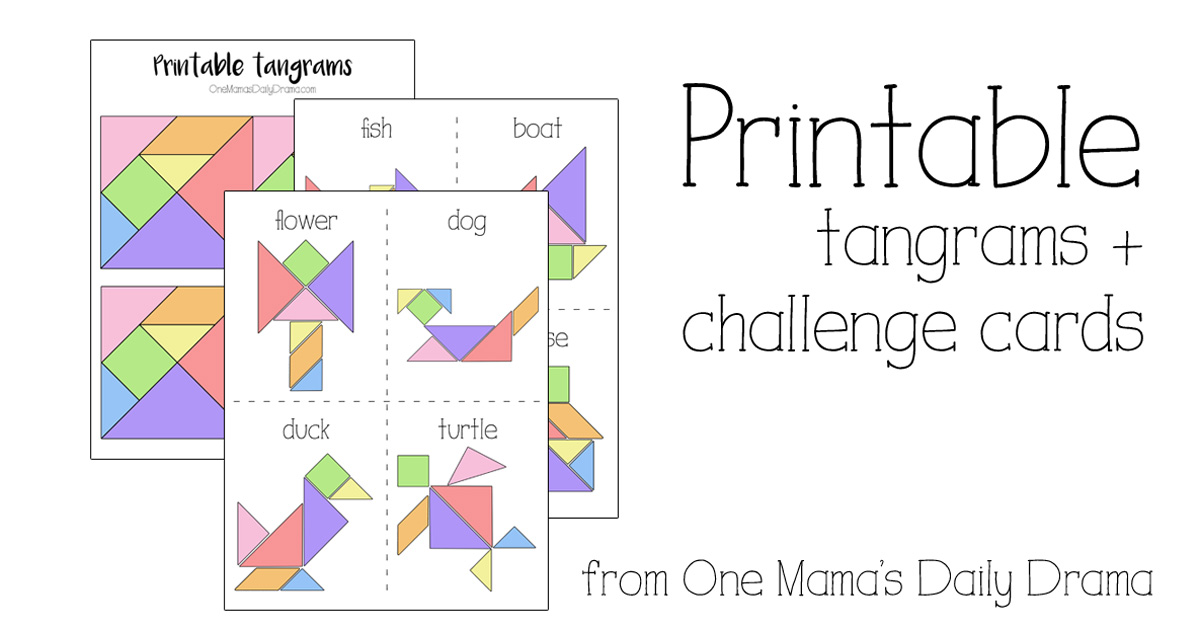 photo relating to Printable Tangram named Printable Tangrams and Problem Playing cards Little ones Recreation
