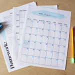 Printable teen / tween student planner for school