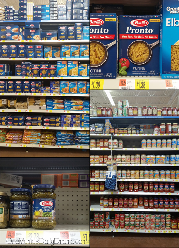 Find Barilla Pronto pasta and Barillo pasta sauces at your local Walmart! #ad #OnePanPronto