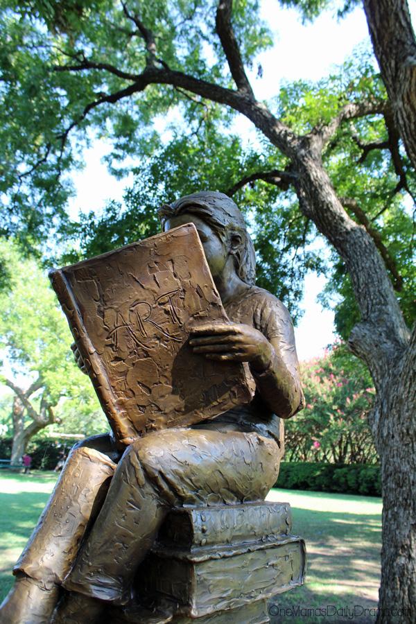 Delbert the Dragon at the Dallas Arboretum