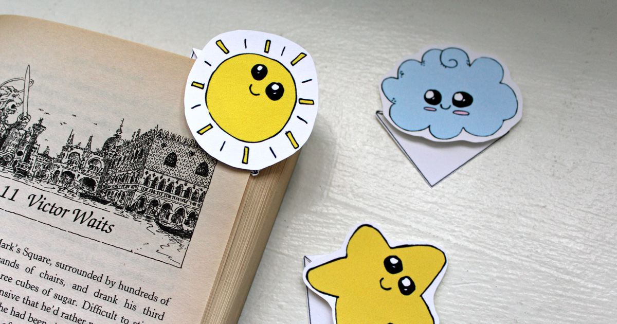 Kawaii Corner Bookmarks Printable Tutorial