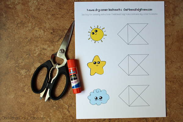 picture regarding Corner Bookmarks Printable identify Kawaii corner bookmarks printable + guideline