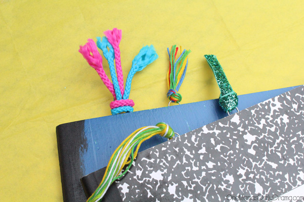 Easy tassel paperclip bookmarks and planner clips