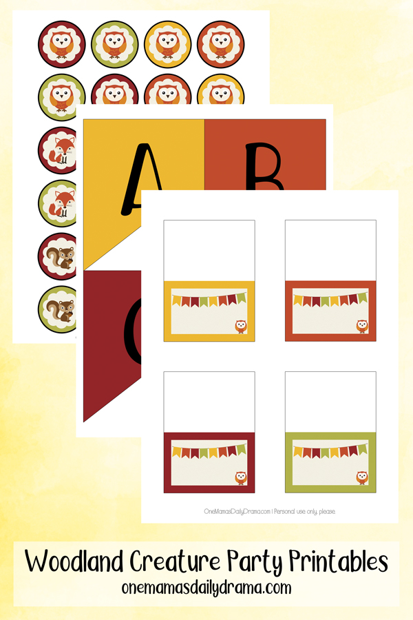 preview of printed pages with cards, banner pieces, and circles on separate pages