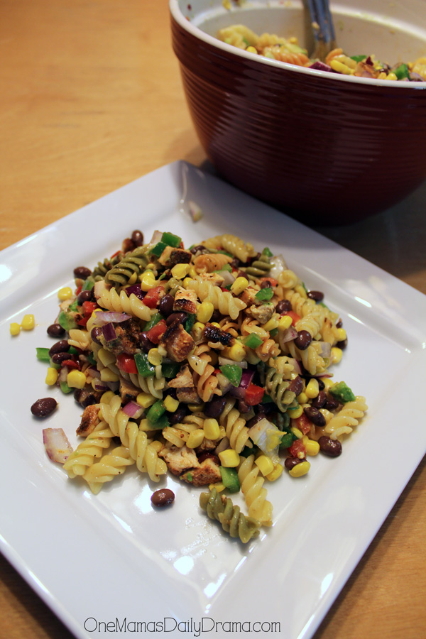 Southwest pasta salad | One Mamas Daily Drama