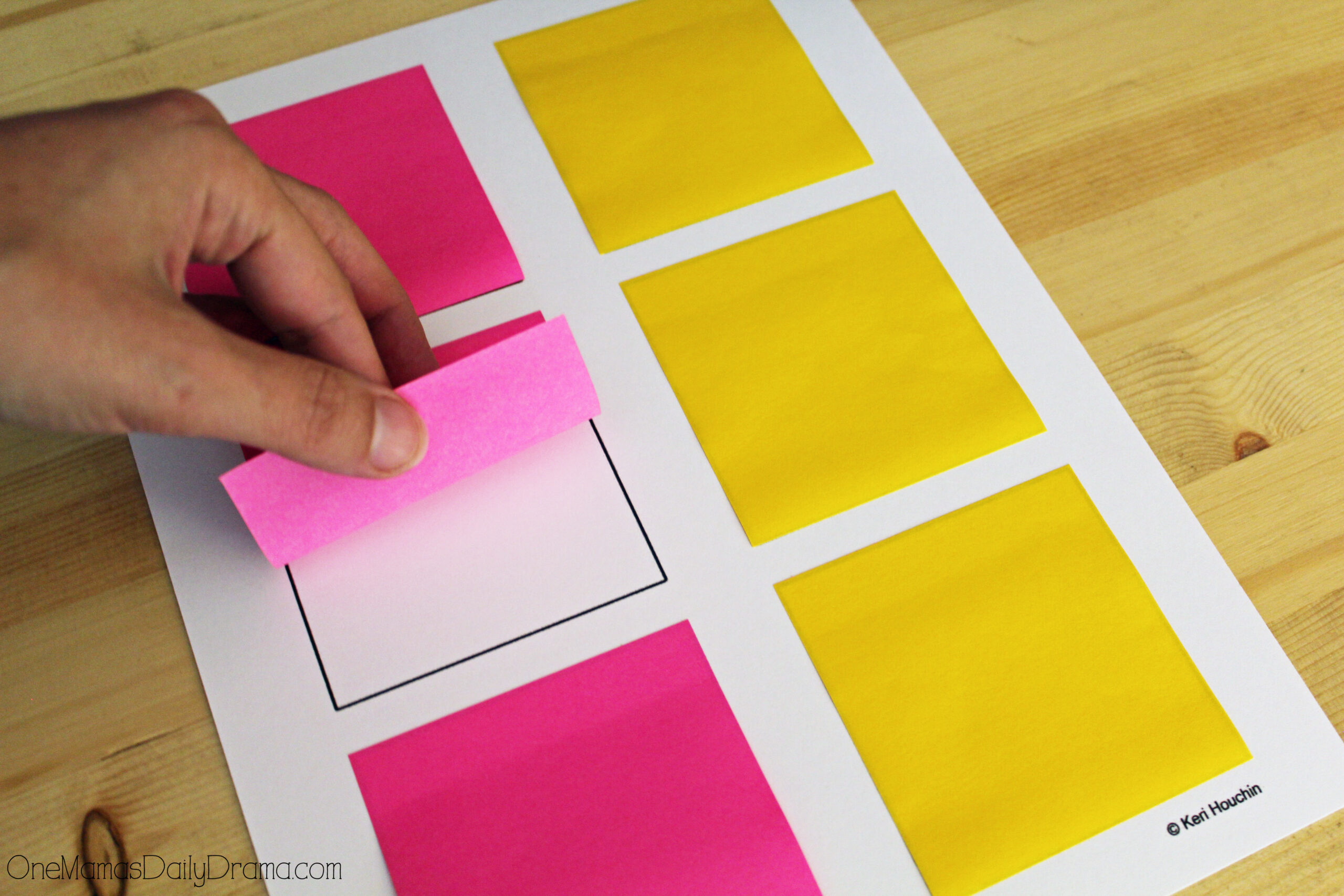 Printable watermelon notes for tweens | How to place the sticky notes