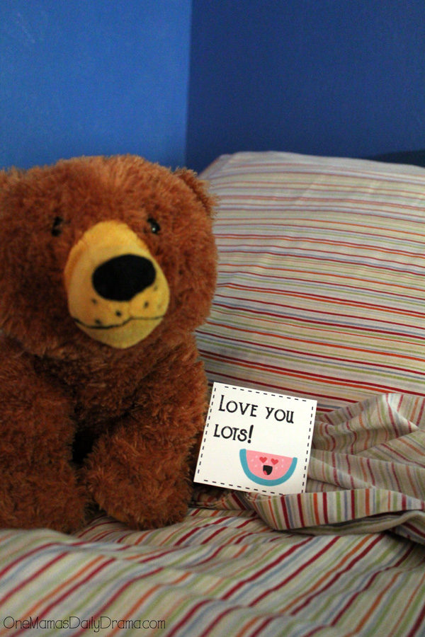 Leave a sweet message on your tween's bed.