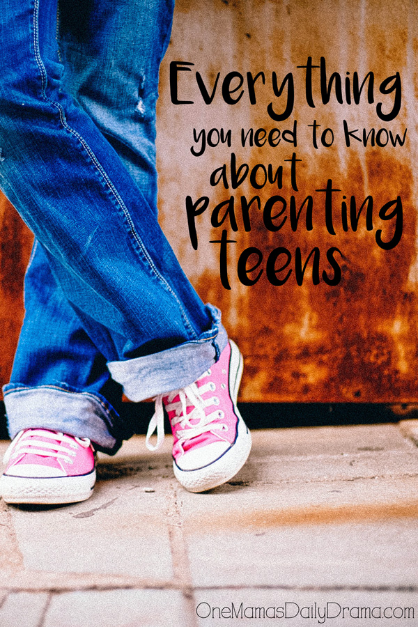 Everything you need to know about parenting teens | A simple idea from One Mama's Daily Drama