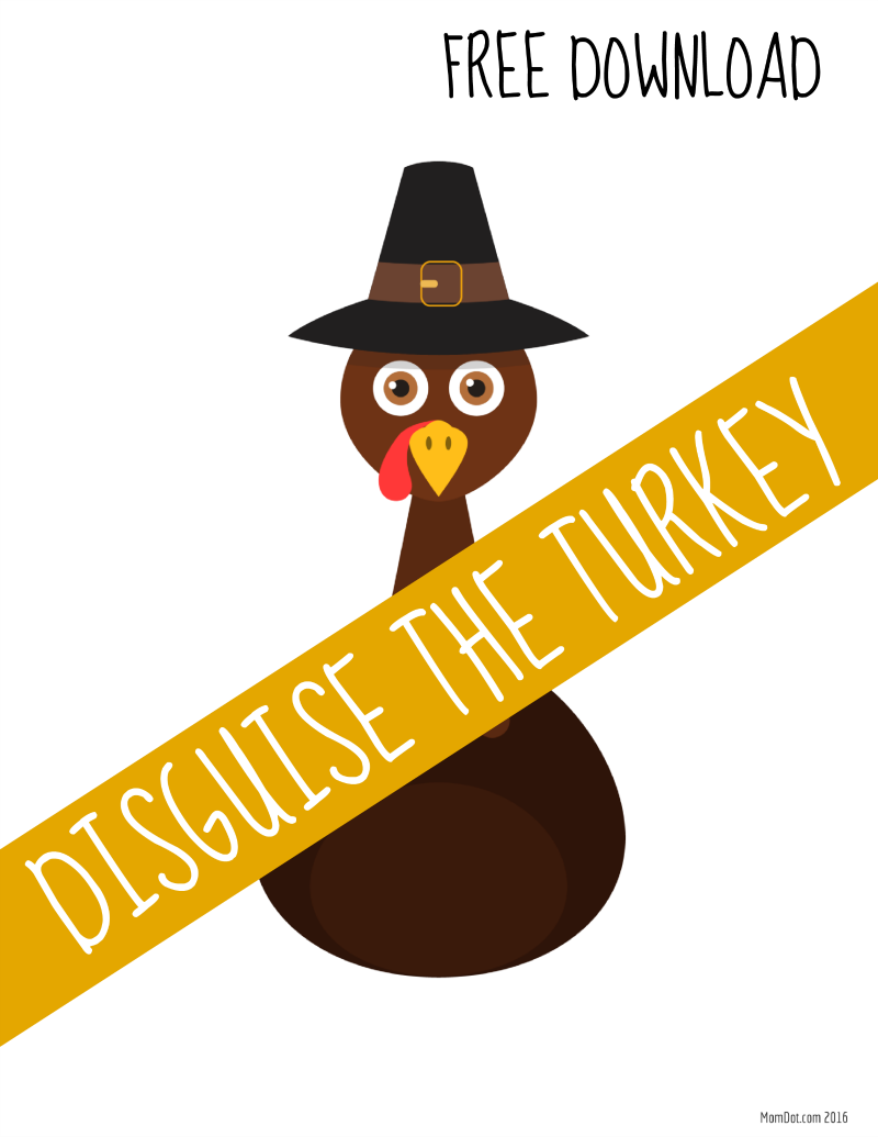 Thanksgiving kids activities | Disguise the turkey game from Mom Dot