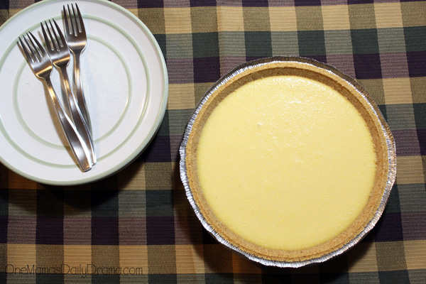 Eggnog pie is quick to make in just 5 minutes of prep and 1+ hours of chilling.