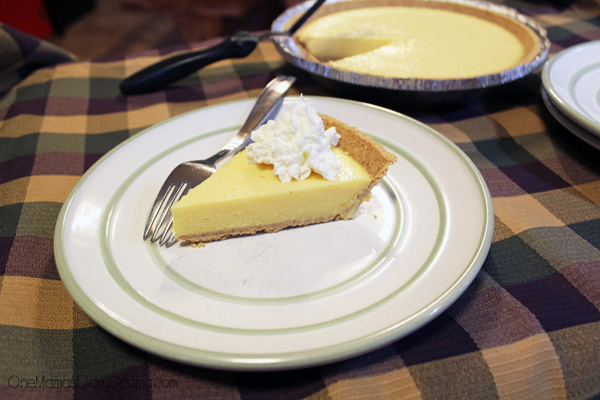 Eggnog pie is the perfect holiday party dessert!
