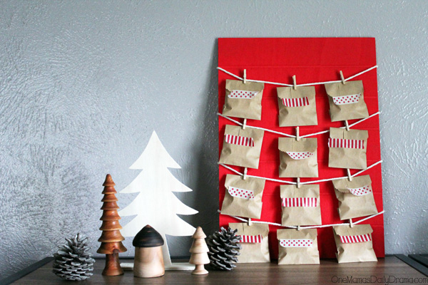 12 Days of Christmas countdown calendar