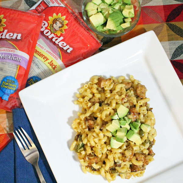 Chicken fajita macaroni and cheese