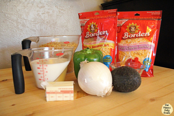 Chicken fajita macaroni and cheese: ingredients