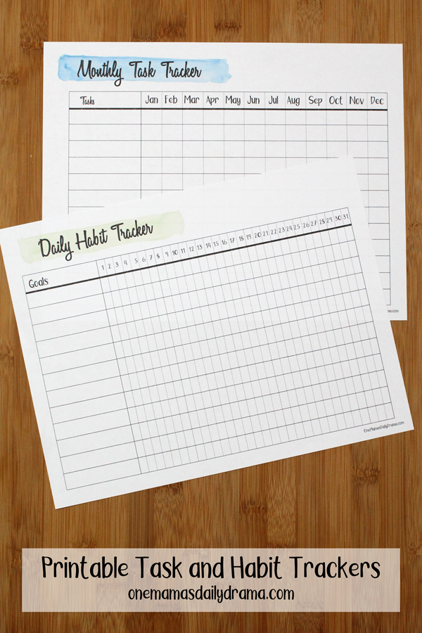 picture about Daily Habit Tracker Printable identified as Printable Job and Practice Trackers Printable Planner Inserts