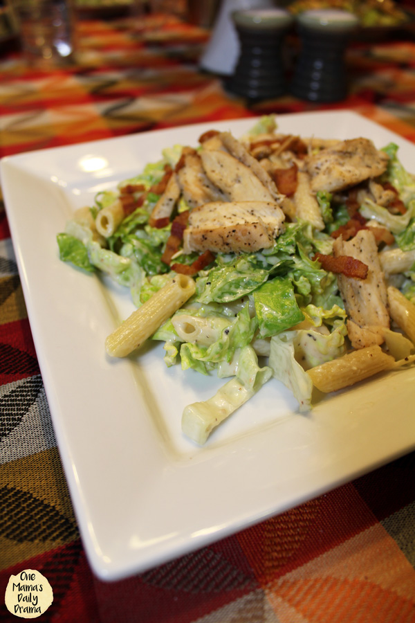 Chicken caesar pasta salad with bacon | OneMamasDailyDrama.com