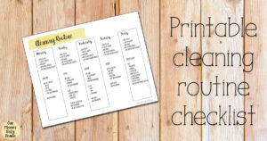 Printable cleaning routine checklist