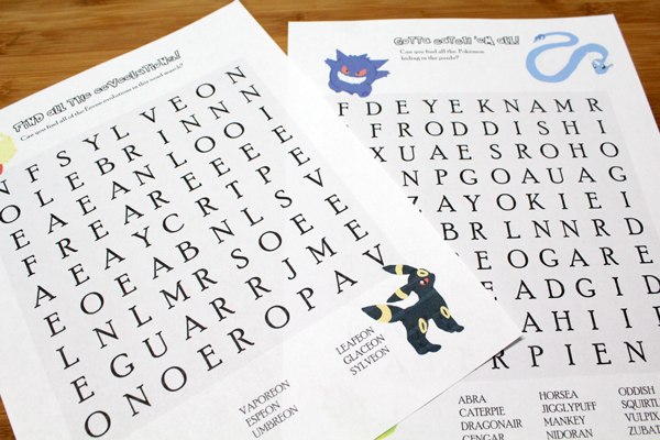 picture relating to Pokemon Word Search Printable named Printable Pokémon Puzzles for Little ones Maze and Phrase Glimpse